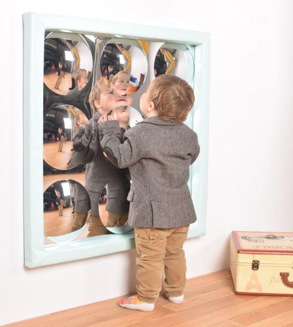 9 Bubbles Sensory Mirror with soft frame M3012W
