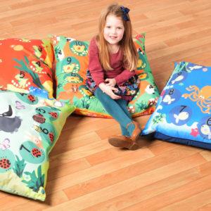 "Cushions (WIPE CLEAN): Set of 4 Large Wipe Clean ""indoor/outdoor"""