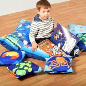 """Cushions (WIPE CLEAN): Themed Bale of 7 """"indoor/outdoor"""""""