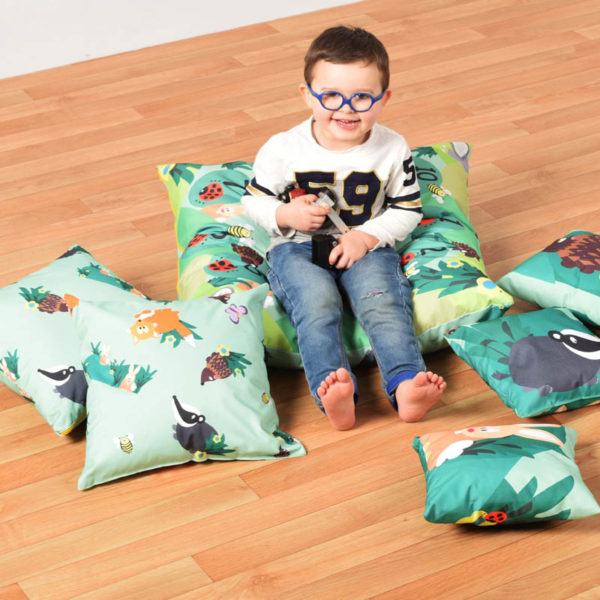 "Cushions (WIPE CLEAN): Themed Bale of 7 ""indoor/outdoor"""