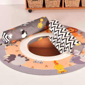 Safari Mirror Mat with bolsters