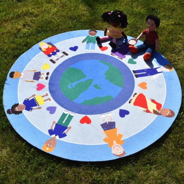 Hands Around the World Story Mat