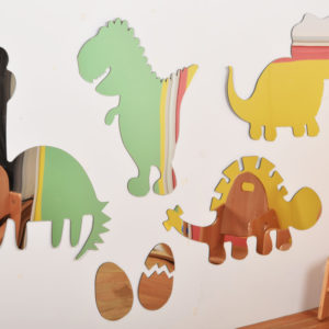 Children's Plastic Safety Mirror Set: Dinosaurs M2006