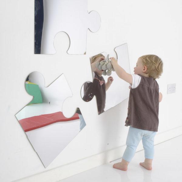 Children's Plastic Safety Mirror Set: 3 Puzzle Pieces M2201