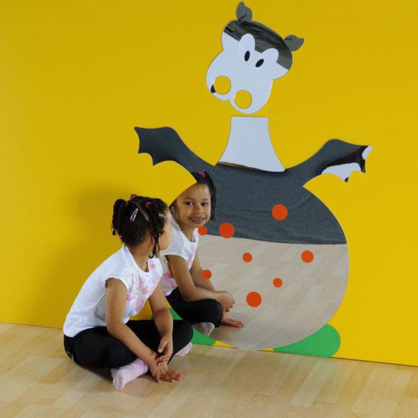 Children's Plastic Safety Mirror: Large Friendly Dragon M2203