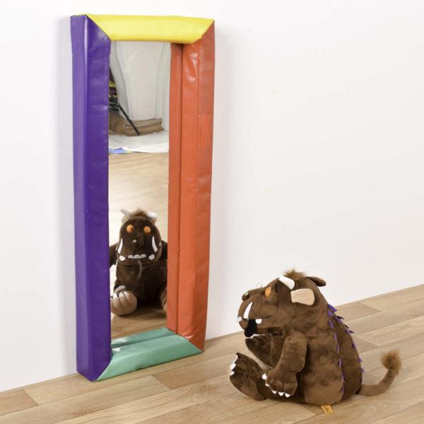 300 x 840mm Rectangular sensory mirror with soft frame M3010W