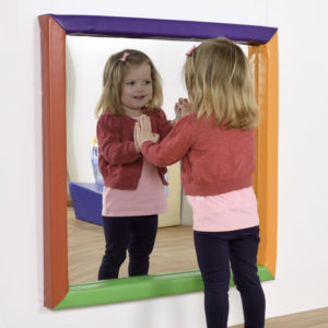 840mm sq. Square sensory mirror with soft frame M3014W