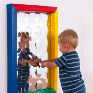 24 Bubbles sensory mirror with soft frame (550x750mm) M3019W