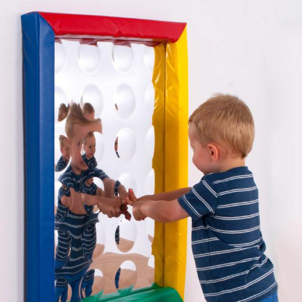 24 Bubbles sensory mirror with soft frame (550x750mm) M3019W