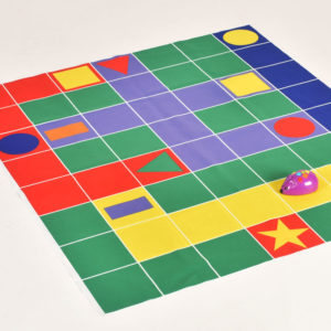 Cheese & Cat Chase double sided mat for coding robot (150mm grid) W2003